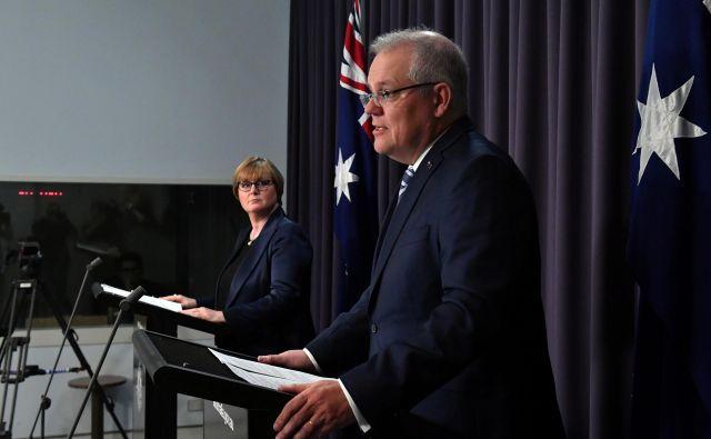 Stooodstotno prepričan, da za hekerskimi napadi stoji Kitajska, avstralski premier Scott Morrison seveda ne more biti. FOTO: Stringer Reuters