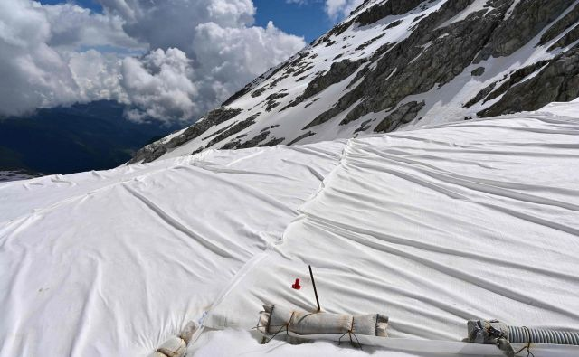 Ponjava na ledeniku Presena. FOTO: Miguel Medina/AFP