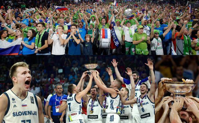 Šport je izjemno veliko storil za promocijo Slovenije, tako so denimo v Istanbulu ob slavju košarkarjev spoznali našo državo. Luka Dončić pa je pozneje še kako vidno opozoril nase ob začetku svoje sanjske poti v čarobnem svetu z oznako NBA. FOTO: Blaž Samec/Delo