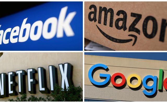 Na trgu so delnice velike četverice družb Apple, Microsoft, Google (Alphabet) in Amazon vredne okoli 5,8 tisoč milijard dolarjev, 17-krat toliko kot na dnu velike finančne krize leta 2009. FOTO: Reuters
