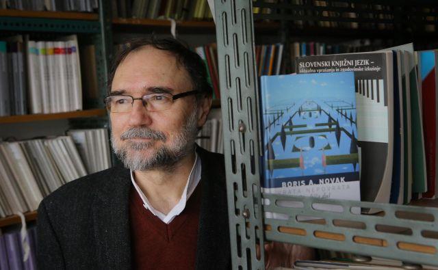 Boris A. Novak je prepričan, da je izražati zaskrbljenost pravica članov Društva slovenskih pisateljev. Foto Jože Suhadolnik