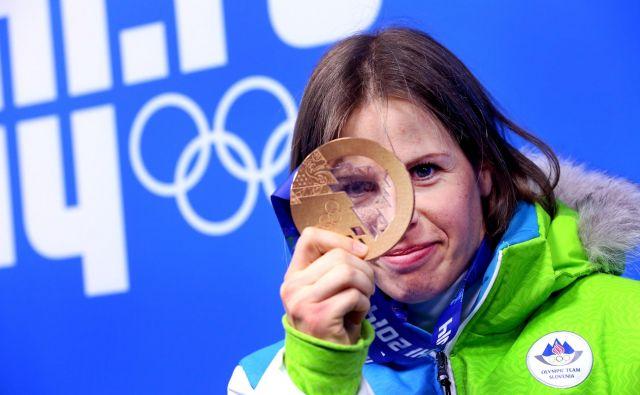 Vrhunec športne kariere Vesne Fabjan so bile olimpijske igre v Sočiju leta 2014. FOTO: Matej Družnik/Delo