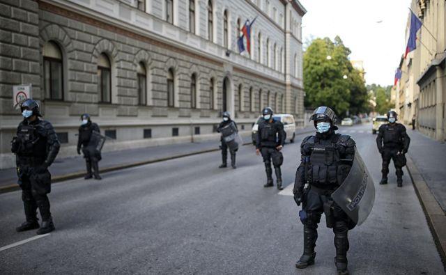 Slovenska policija doslej še nikoli ni uporabila električnih paralizatorjev, z njimi pa bodo policisti predvidoma opremljeni od 1. julija naprej. FOTO: Blaž Samec/Delo