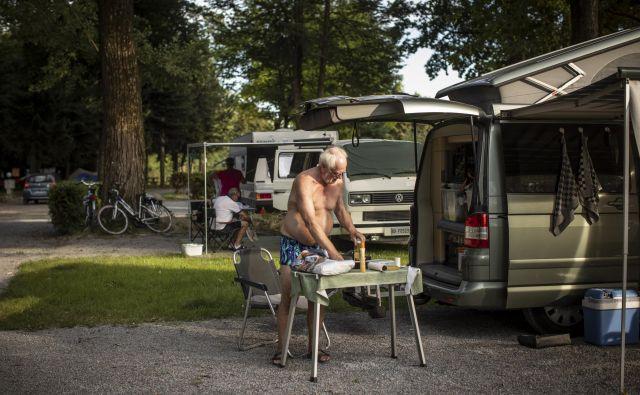 Nizozemci so tretji najpomembnejši gostje v slovenskih kampih, lani so opravili 300.000 nočitev. FOTO: Voranc Vogel/Delo
