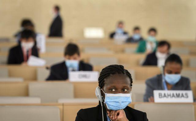 Razprava Sveta OZN za človekove pravice o rasizmu v ZDA. FOTO: Fabrice Coffrini/Reuters