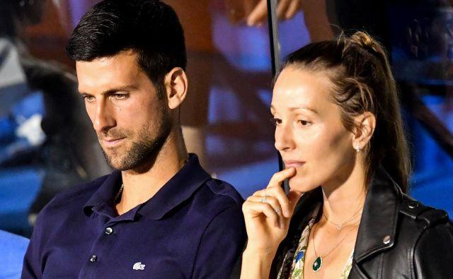 Novak Đoković in žena Jelena sta v izolaciji. FOTO: AFP