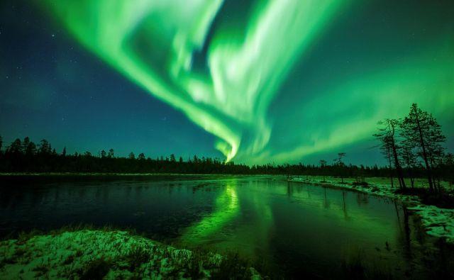 Severni sij blizu Rovaniemija. FOTO: Alexander Kuznetsov/Reuters