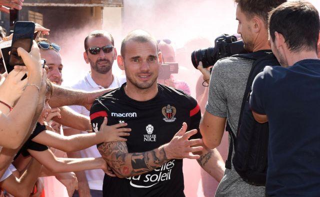 Wesley Sneijder je rekorder nizozemske reprezentance. FOTO: Jean-Pierre Amet/Reuters