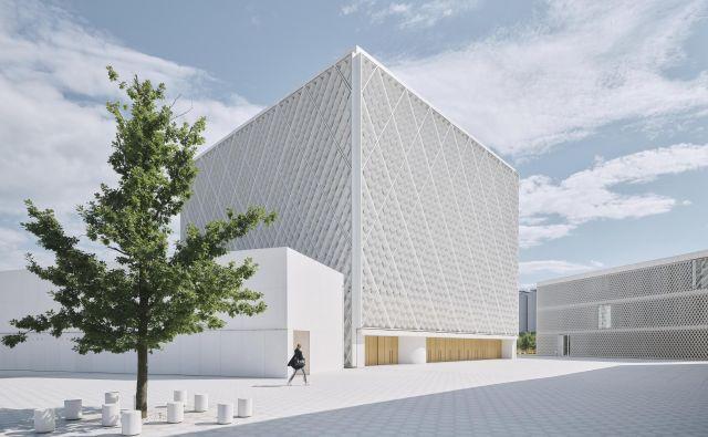 Islamska skupnost, ki je del slovenske družbe, je vidnost dobila z belim in sodobno oblikovanim kompleksom. Ko se mu približaš, se začne razslojevati v več objektov, ki med seboj ustvarjajo odprt javni prostor. Foto David Schreyer
