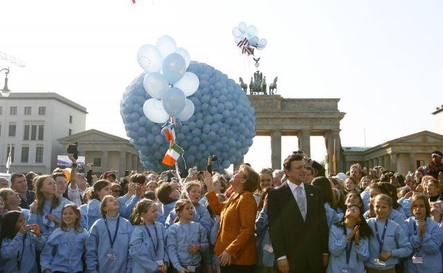 25. marca 2007 smo v Uniji praznovali 50. obletnico podpisa rimskih pogodb. V berlinski izjavi so zapisali, da imamo državljani Evropske unije »srečo, da smo združeni«. FOTO: Kai Pfaffenbach/Reuters