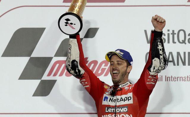 Andrea Dovizioso je zmagal na 14 dirkah razreda motogp. FOTO: Ibrahim Al Omari/Reuters