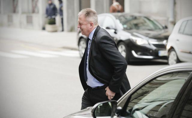 Preiskava pri ministeru za gospodarstvo Zdravku Počivalšku je trajala od ranega jutra do večera. FOTO: Uroš Hočevar