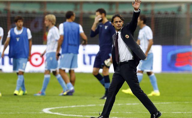 Filippo Inzaghi se je po neposrečenih trenerskih izkušnjah pri Milanu, Venezii in Bologni izkazal pri Beneventu in z rekordnim dosežkom moštvo popeljal v najmočnejšo ligo. FOTO: Stefano Rellandini/Reuters