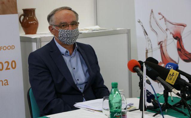 Predsednik uprave Pomurskega sejma Janez Erjavec je danes z žalostjo v glasu sporočil, da letošnjega kmetijsko živilskega sejma AGRA ne bo. FOTO: Jože Pojbič/Delo