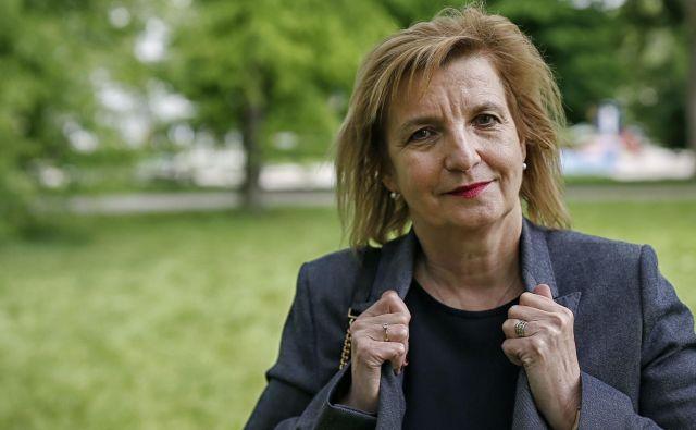 Na novinarski konfreneci je sveže podatke predstavila tudi Bojana Beović. FOTO: Blaž Samec/Delo