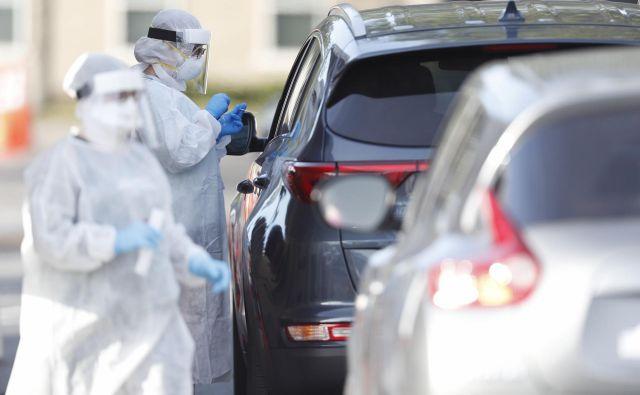Testiranje na novi koronavirus v floridski Tampi. FOTO: Octavio Jones/AFP