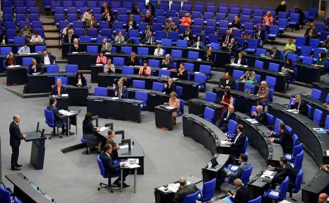 Nemški poslanci so potrdili rekordni proračun za leto 2020.<br /> <br /> Foto Tobias Schwarz/AFP
