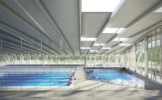 Najsodobnejši plavalni center bo omogočal izvedbo velikih mednarodnih tekmovanj v plavanju in drugih vodnih športih. Fotografije Arhiv Lorenz Ateliers