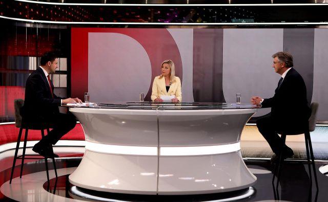 Televizijsko soočenje glavnih pretendentov za premierski položaj Davorja Bernardića in Andrej Plenkovića Foto RTL Press/Cropix
