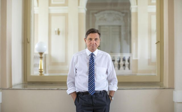 Predsednik Borut Pahor se tudi med zadnjim nastopom na RTV SLO ni nedvoumno opredelil glede nekaterih aktualnih temeljnih vprašanj na področju zunanje in notranje politike. Foto Voranc Vogel