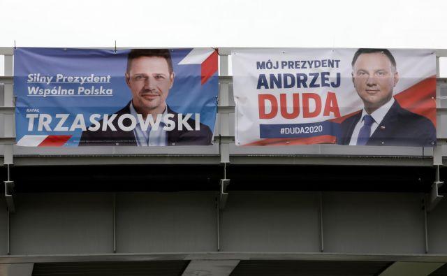V drugem krogu se bosta spopadla župan Varšave Rafał Trzaskowski in sedanji predsednik Andrzej Duda.Foto: Kacper Pempel/Reuters