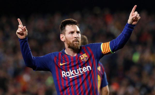 Lionel Messi je zabil prvi gol v dresu Barcelone pred 15 leti. FOTO: Susana Vera/Reuters