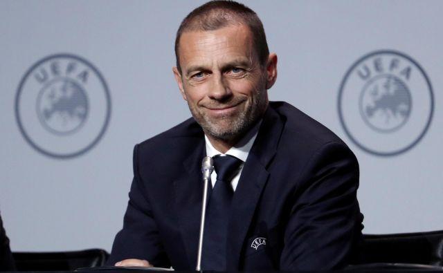 Aleksander Čeferin bo kmalu obelodanil odločitve glede nadaljevanja v evropskih pokalih. FOTO: Foto Yves Herman/Reuters