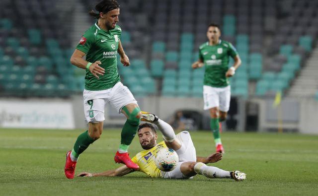 Hrvaški napadalec Ante Vukušić je prinesel Ljubljančanom tri točke v zadnjem derbiju z Mariborom, enak načrt ima v Kranju. FOTO: Leon Vidic