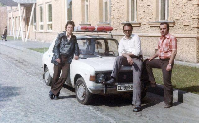 Celjski raketarji so se udeležili tudi parade ob zmagi nad fašizmom v Beogradu leta 1975. Rakete so pripeljali na strehi stoenke. FOTO: hrani Zgodovinski arhiv Celje