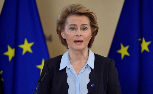 V Berlaymontu, kjer <strong>Ursula von der Leyen</strong> tudi živi, so priznali napako, a opravičili se niso. FOTO: John Thys/Reuters