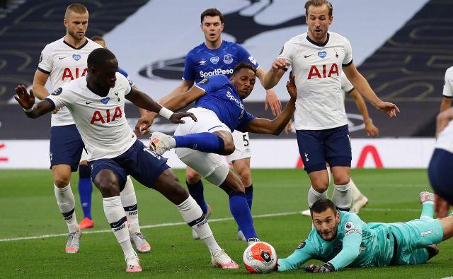 Tottenham in Everton sta se merila v Londonu, kjer so se zmage veselili gostitelji. FOTO: Richard Heathcote/Afp