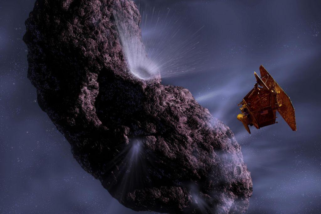 Sonda, ki je bombardirala komet
