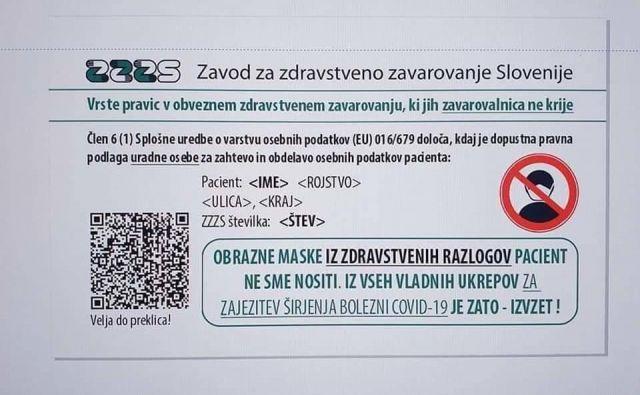 Po spletu krožijo fotografije ponarejenih zdravstvenih kartic. FOTO: ZZZS