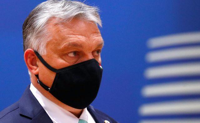 Madžarski premier Viktor Orban je po zasedanji vrha EU razglasil zmago in oznanil, da je ubranil nacionalni ponos.<br /> REUTERS/Francois Lenoir