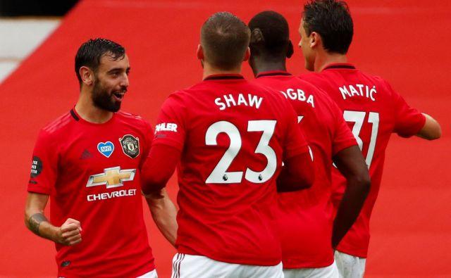 Nogometaši Manchester Uniteda so osvojili pomembne točke na gostovanju pri Aston Villi. FOTO: Clive Brunskill/AFP