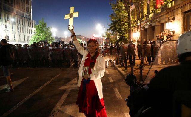 Protesti v Srbiji FOTO: Marko Djurica/Reuters
