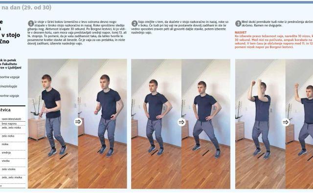 Ko izberete pravo težavnost vaje, naredite 10 nizov, ki trajajo po 30 sekund. FOTO: Delo
