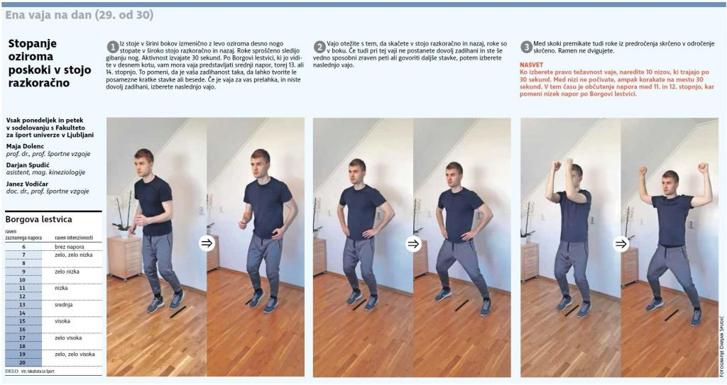 FOTO:Stopanje oziroma poskoki v stojo razkoračno