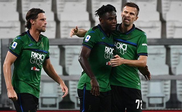 Atalanta je z obilo smole ostala brez zmage v Torinu, kjer je eno uro igral tudi slovenski zvezdnik Josip Iličić (desno). FOTO: Marco Bertorello/AFP
