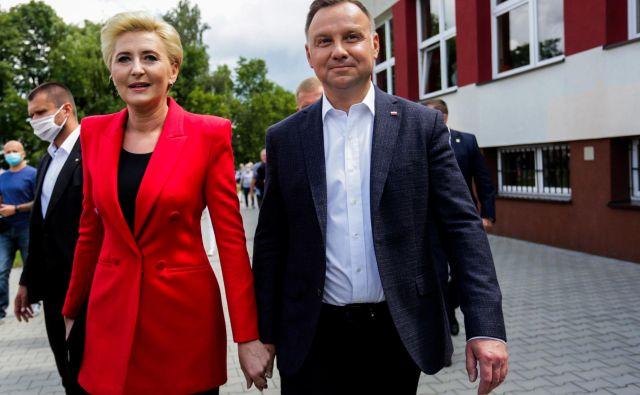 Andrzej Duda in njegova žena Agata Kornhauser-Duda FOTO: Adrianna Bochenek/Agencja Gazeta/Reuters