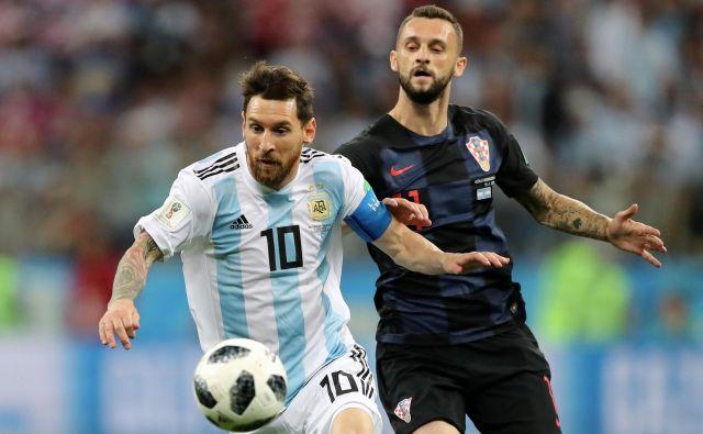Marcelo Brozović je s Hrvaško osvojil drugo mesto na SP v Rusiji, kjer so naši sosedje nadigrali tudi Argentino z Lionelom Messijem. FOTO: Ivan Alvarado/Reuters