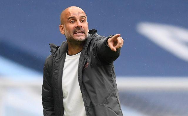 Pep Guardiola že snuje nov ambiciozen projekt na klopi Manchester Cityja. FOTO: Michael Regan/Reuters