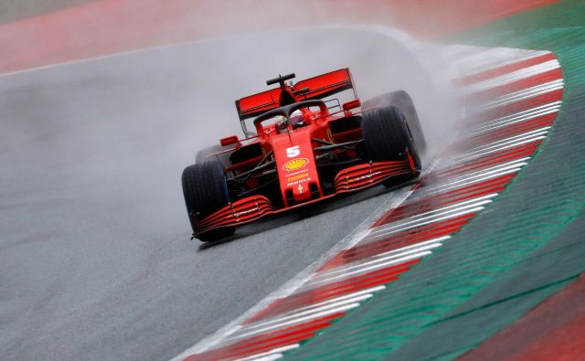 Sebastian Vettel med nedavno dirko v Spielbergu. FOTO: Leonhard Foeger/AFP