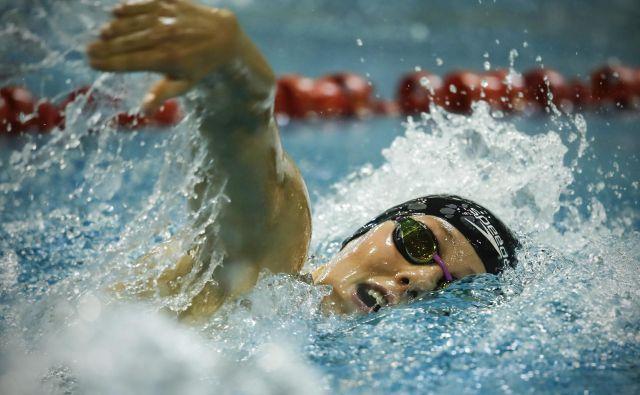Pred prekinitvijo sezone je bila Tjaša Oder naša edina plavalka z normo za OI, zdaj pa okreva po poškodbi rame. FOTO: Uroš Hočevar/Delo