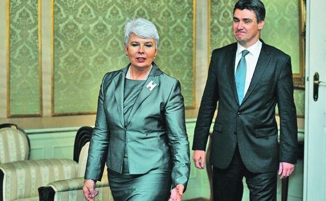 Leta 2011 je bil Zoran Milanović obsojen na zmago. Tako kot je bila nova predsednica takrat vladajoče HDZ Jadranka Kosor obsojena na volilni poraz. FOTO: Boris Kovačev/Cropix