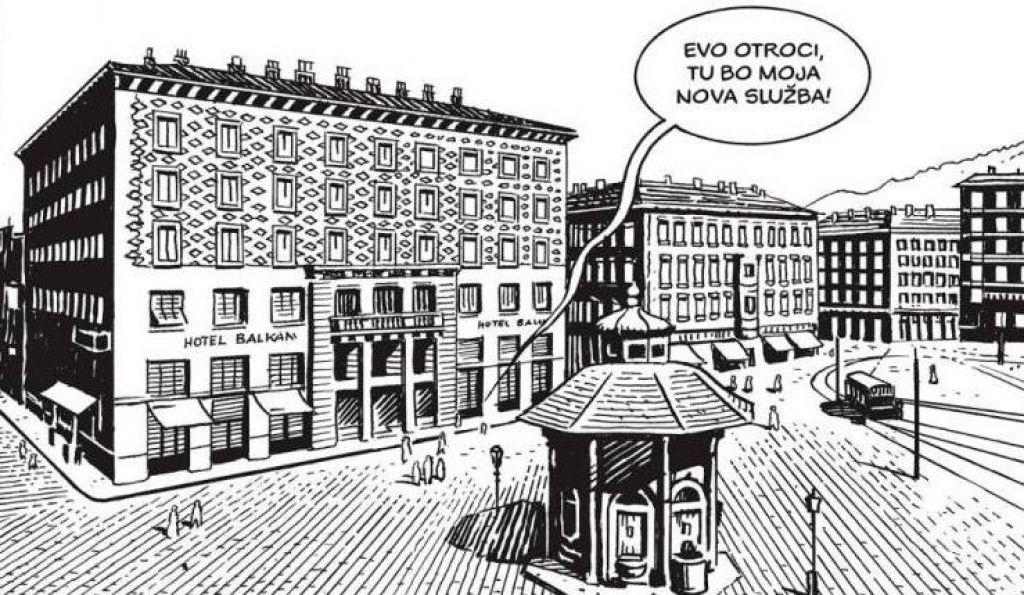 FOTO:Stripovska različica požiga Narodnega doma v Trstu