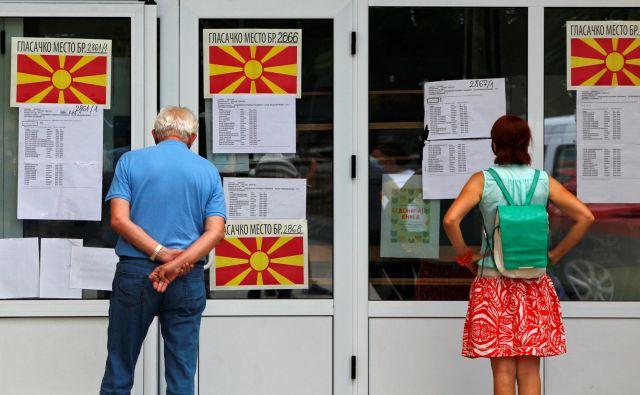 Volitve v Makedoniji bi morale potekati 12. aprila, a so jih zaradi epidemije preložili. FOTO: Ognen Teofilovski/Reuters