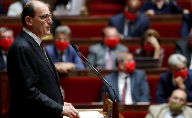 Jean Castex predstavlja je predstavil smernice nove vlade, ki jo vodi.<br /> Foto: Gonzalo Fuentes/Reuters