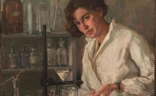 Ana Mayer Kansky, kot jo je na sliki z naslovom Kemičarka upodobila Henrika Šantel. FOTO: Wikipedija