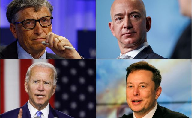 Tarče hekerskega napada so bili tudi Bill Gates, Jeff Bezos, Joe Biden in Elon Musk. FOTO: Reuters